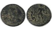AE2 de Valentiniano I. REPARATIO-REIPVB. Emperador. Ceca Alejandría. Image