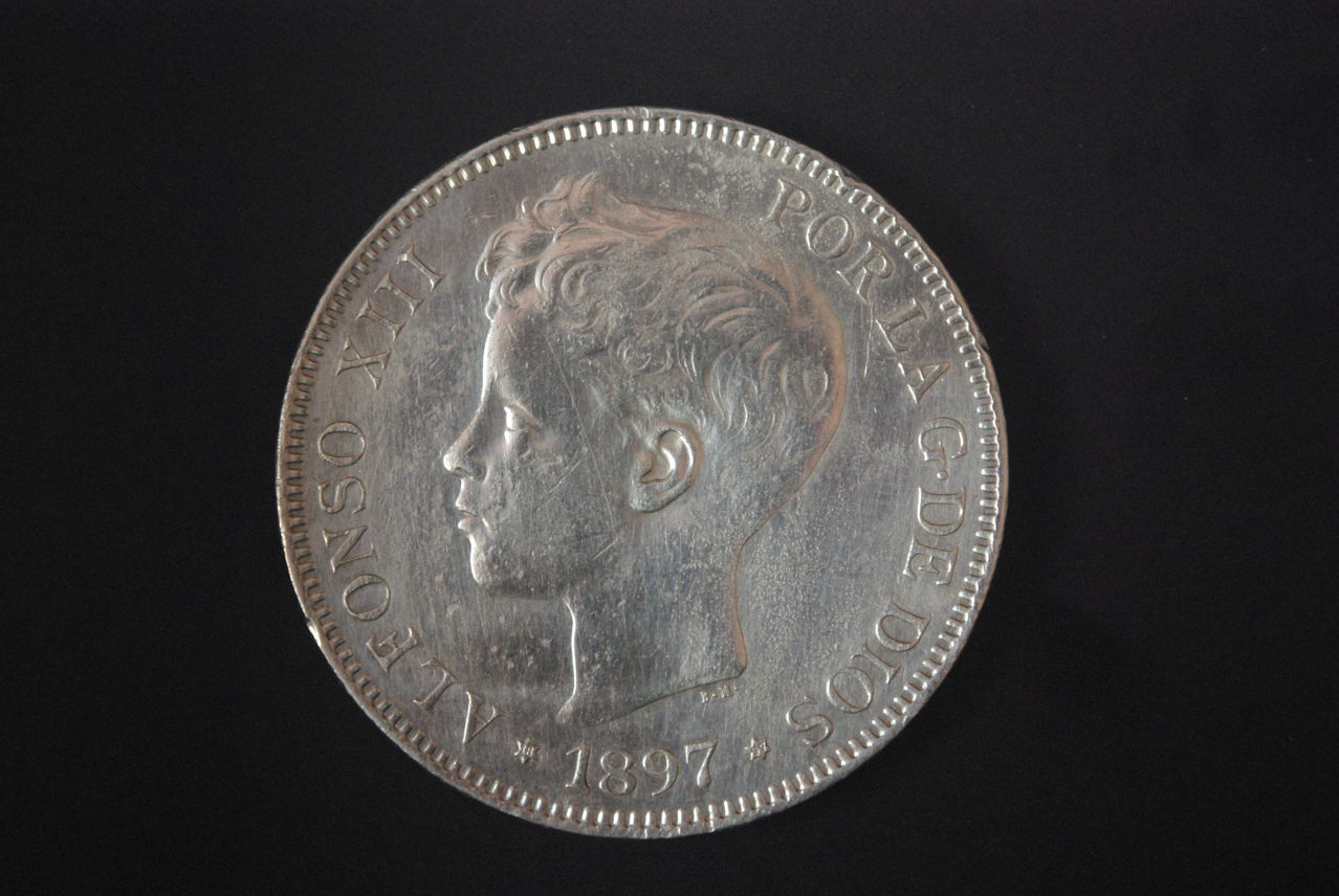 5 Pesetas Alfonso XIII 1897 SGV IMGP2813