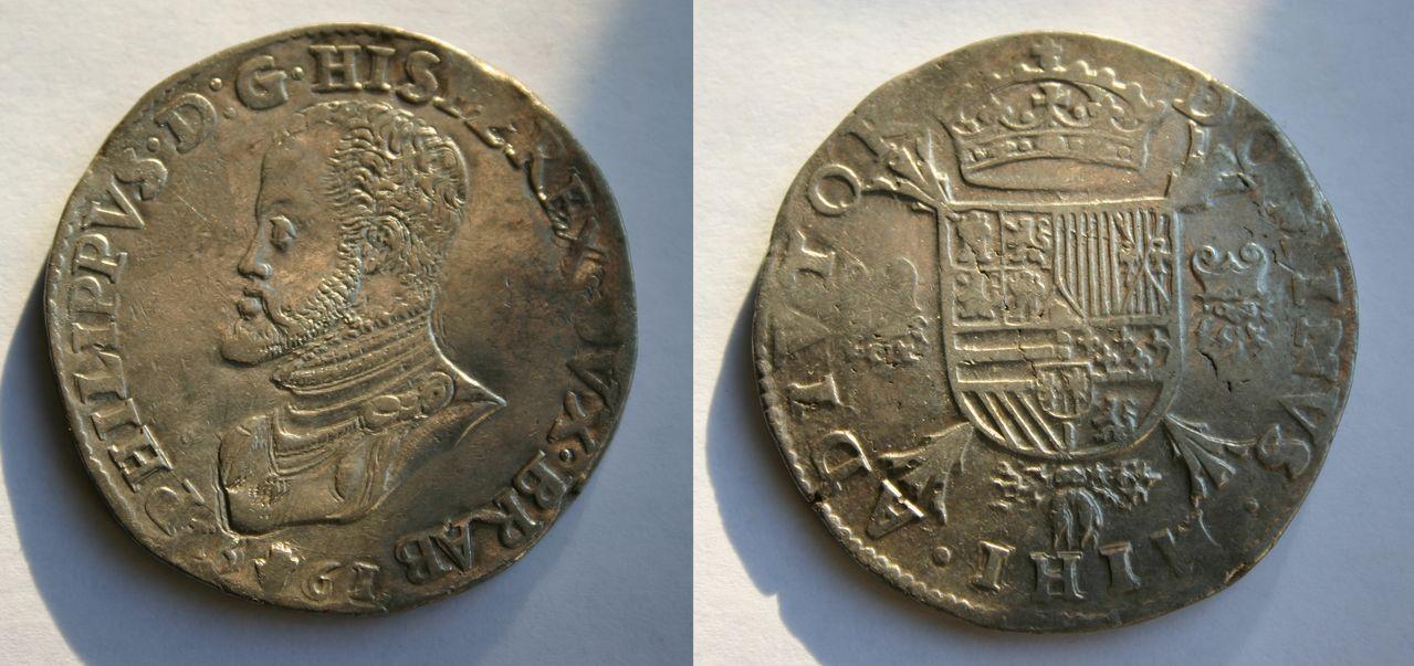 Tálero a nombre de Felipe II. 1561. Amberes. Philipsdaalder_1571