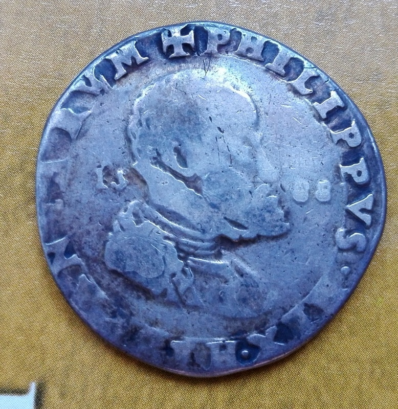 1/2 ducatón 1588 Milán, Felipe II Medio_ducaton_1588