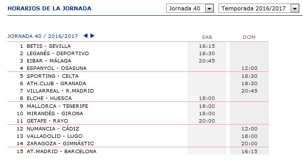 LA QUINIELA DE ZONAMALAGUISTA. J24ª (25-26 Febrero) JQ_Horarios
