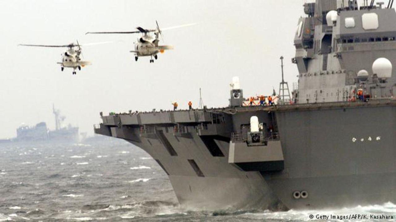 Ejercicio naval Malabar 2015,2017 y siguientes - Participacion  de India - Japon - Estados Unidos - Australia JS_HYUGA