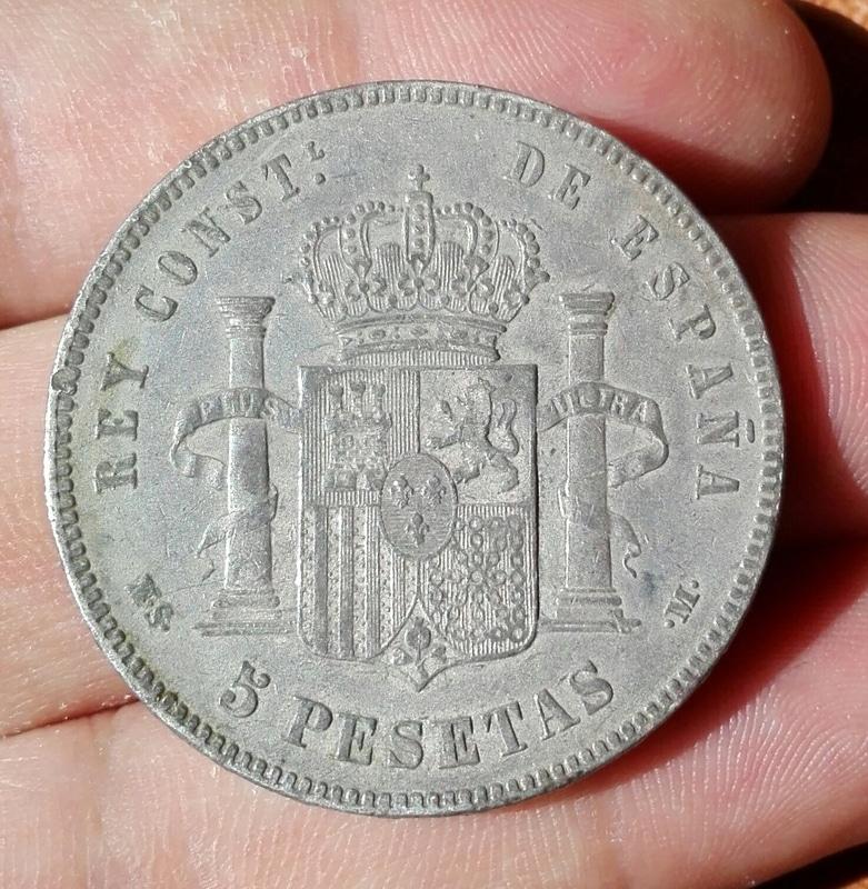 5 pesetas 1885*87. Alfonso XII IMG_20160805_144614