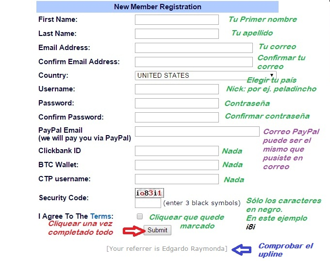 [TUTORIAL] FUNCIONAMIENTO DE LOS TE (Traffic Exchange) Registro