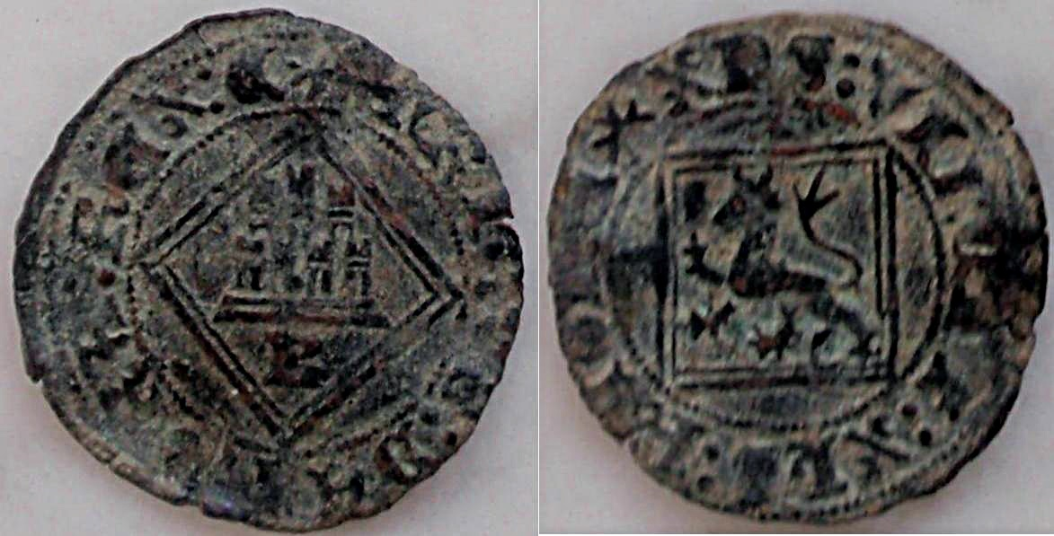 Dinero de Alfonso XI emisión de 1330 0_0blancaromboburgos