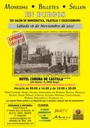Convención Numismática Burgos , Sábado 18 Noviembre. Cartel_Burgos2017-2