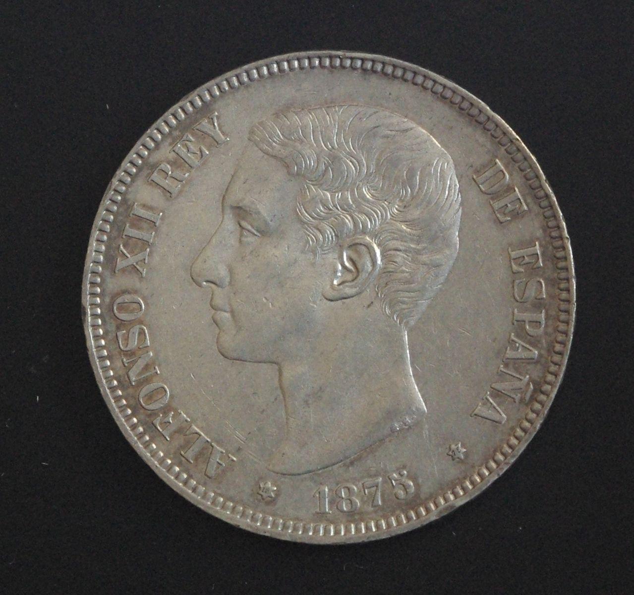 5 Pesetas 1875 Alfonso XII Pátina IMGP3300