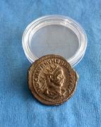 Aureliano de Numeriano. VIRTVS AVGG. Júpiter frente a emperador. Tripolis  IMG_6967