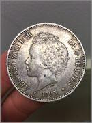 5 pesetas 1893. Alfonso XIII Image