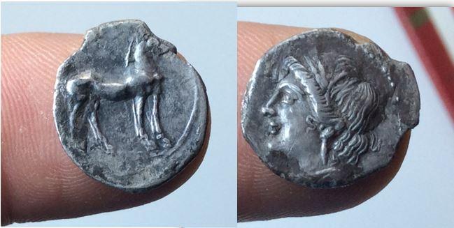 1/4 Shekel. CARTAGO 220-205 a.C. Zeugitania Shekel