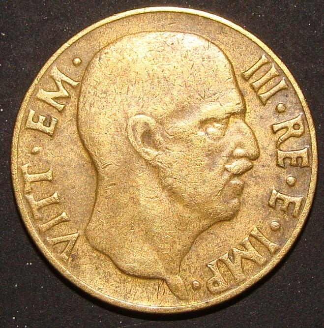 5 Centesimos Lira. Italia (1941) ITA_5_Cent_simos_Lira_1941_anv
