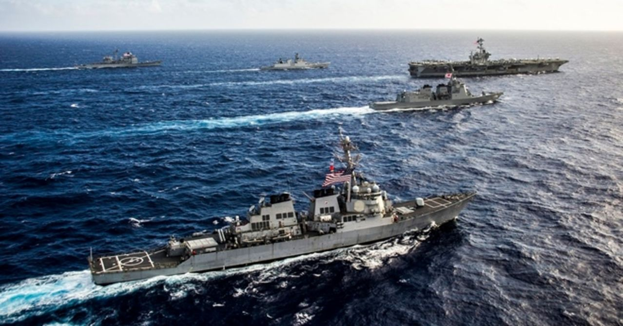 Ejercicio naval Malabar 2015,2017 y siguientes - Participacion  de India - Japon - Estados Unidos - Australia MALABAR_CVN74_USNIMITZ