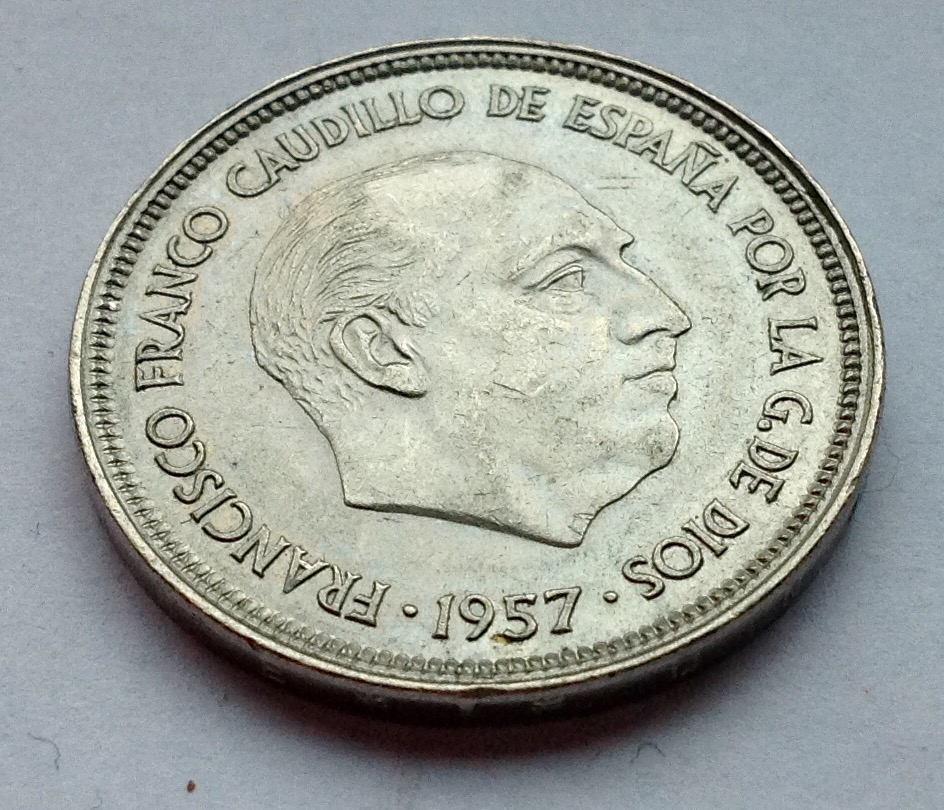 25 pesetas 1957 (*58) Estado Español Image