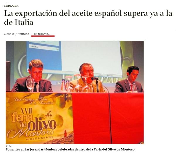 El fraude del aceite de oliva adulterado Exportaciones