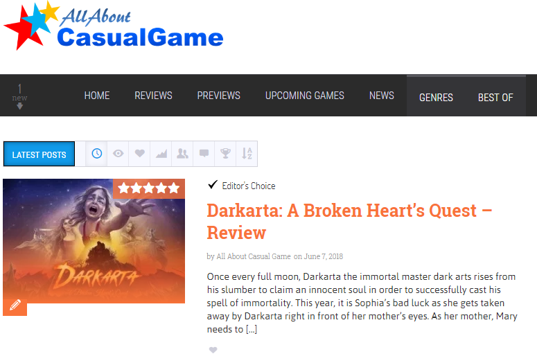 All About Casual Games Review