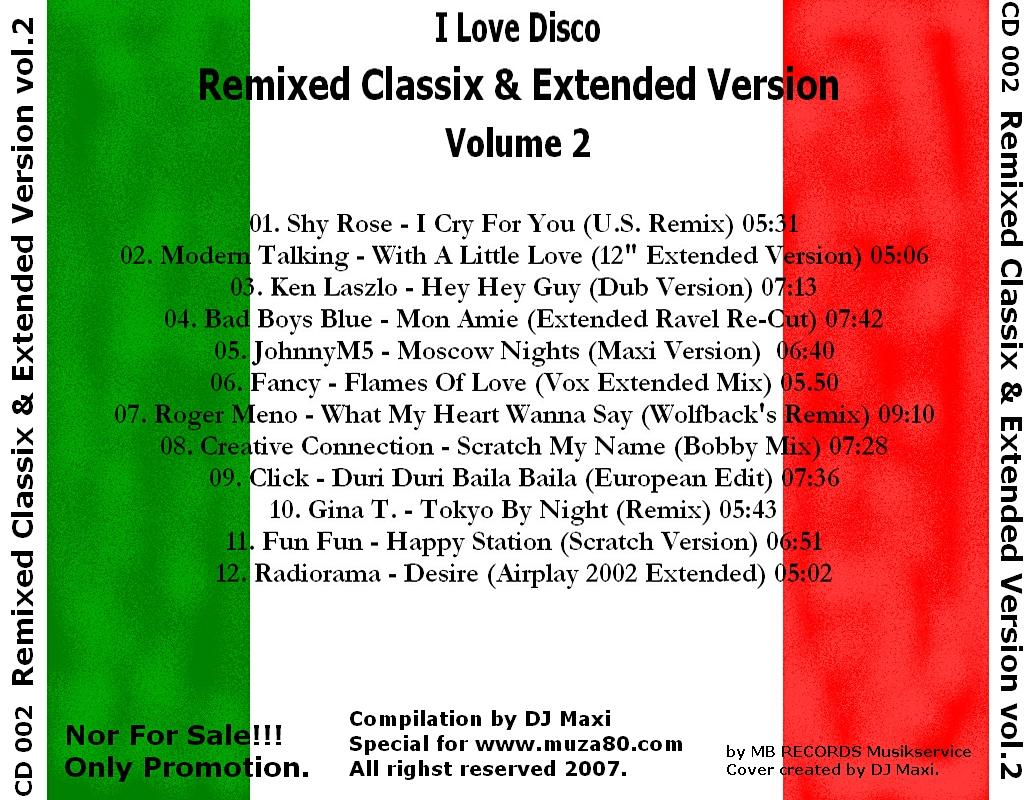 Remixed Classix & Extended Version Collection Cover_Back