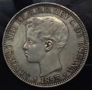 1 Peso 1895. Alfonso XIII. Puerto Rico. Opinión  Peso1
