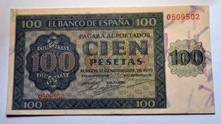 UNO - Juego con Billetes 100_pesetas_1936