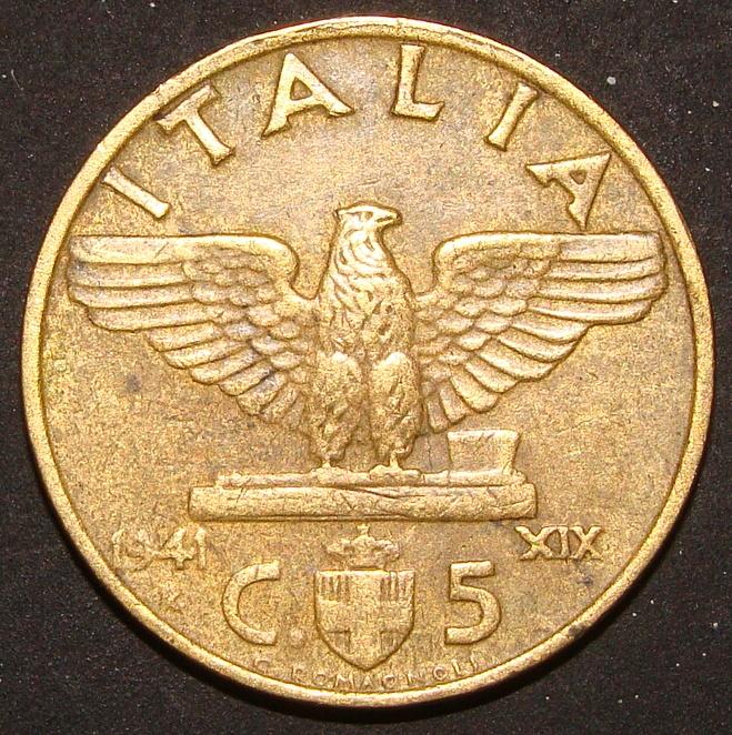 5 Centesimos Lira. Italia (1941) ITA_5_Cent_simos_Lira_1941_rev