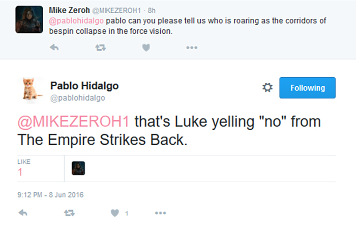 [ARCHIVE] SW Sequel Trilogy Tweets  - Page 2 Bespin