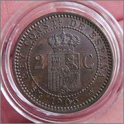 2 céntimos 1905 (*05). SMV. Alfonso XIII Image