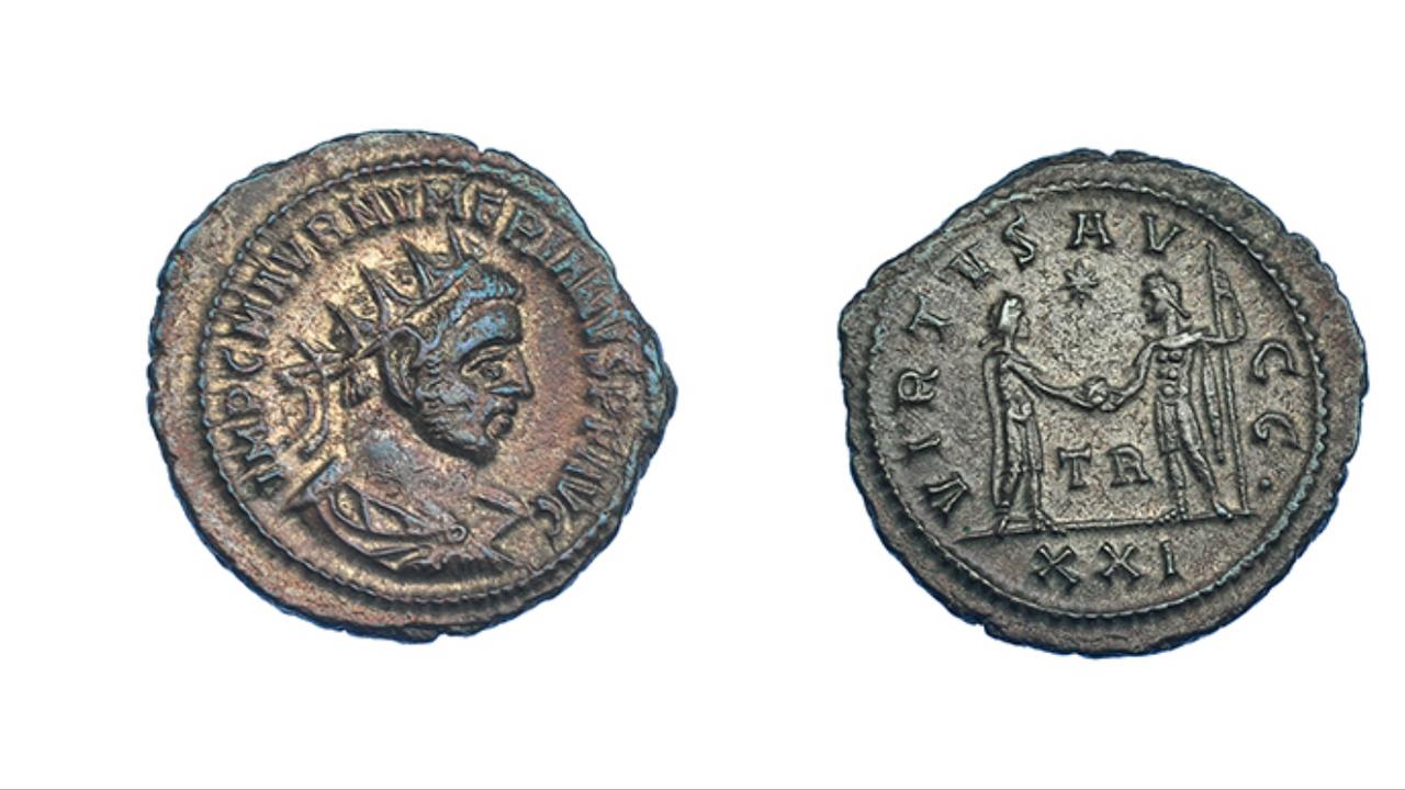 Aureliano de Numeriano. VIRTVS AVGG. Júpiter frente a emperador. Tripolis  IMG_6788