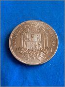 5 pesetas 1949 (19-49). Francisco Franco Image