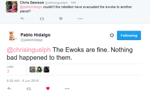 [ARCHIVE] SW Sequel Trilogy Tweets  - Page 2 Ewoks2