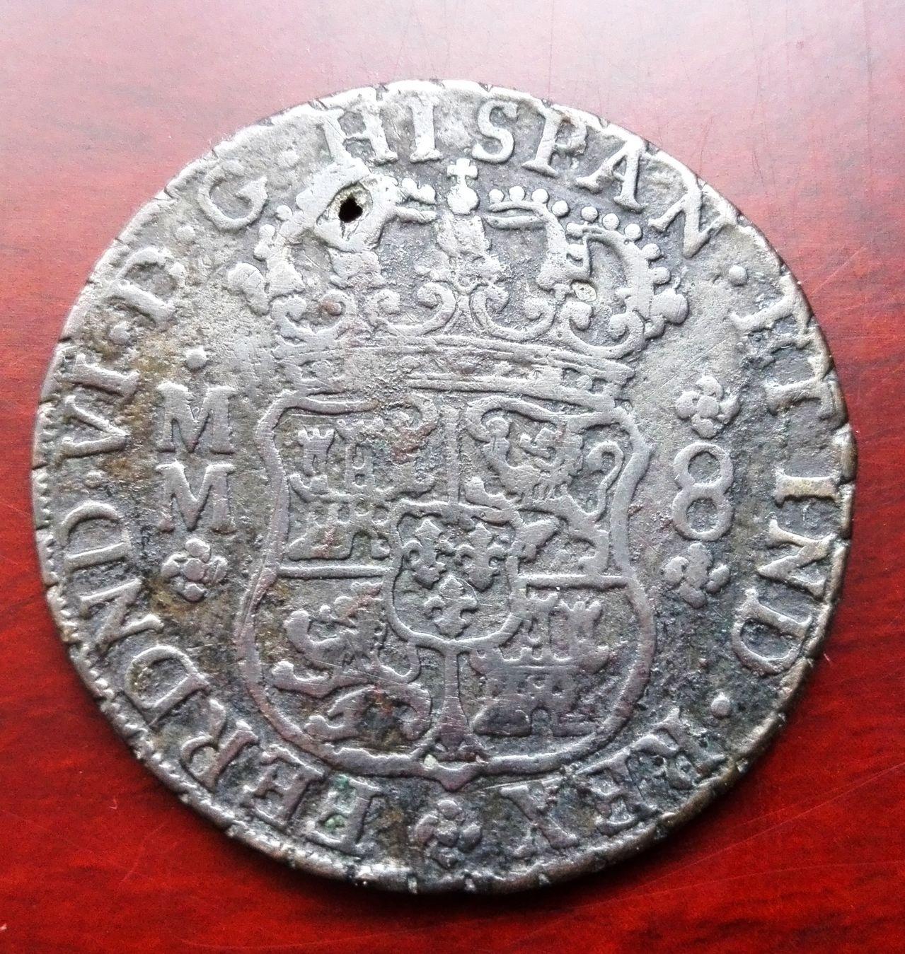 8 reales 1759 Méjico, Fernando VI (columnario) 8_reale_sm1759c