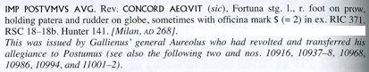 Antoniniano de Póstumo (acuñado por Aureolo). VIRTVS (A)EQVIT. Marte avanzando a dcha. Mediolanum. Imagen1