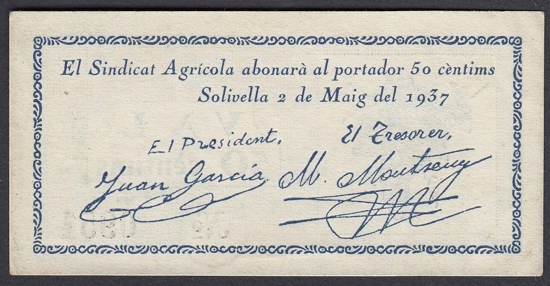 50 Cèntims Solivella, 1937 Solivella_r