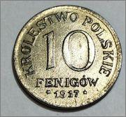 Polonia 10 Feinigow 1917 Variante Image