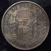 1 Peso 1895. Alfonso XIII. Puerto Rico. Opinión  Peso2