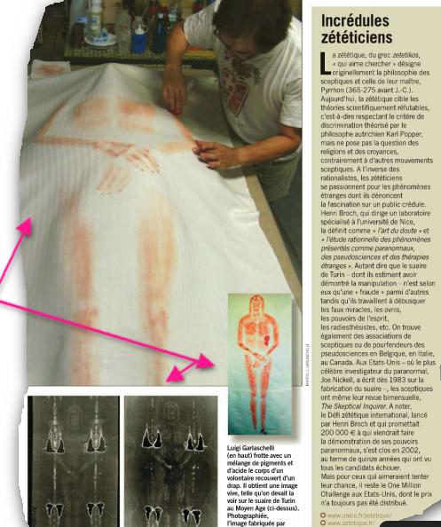 Le linceul de Turin Hoax Image