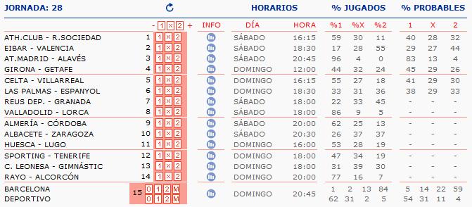 LA QUINIELA DE ZONAMALAGUISTA. J16ª (16-17 Diciembre) Q_HORARIOS