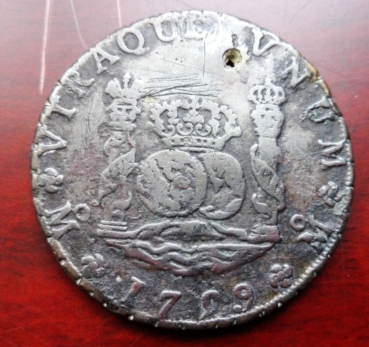 8 reales 1759 Méjico, Fernando VI (columnario) 8_reale_sm1759