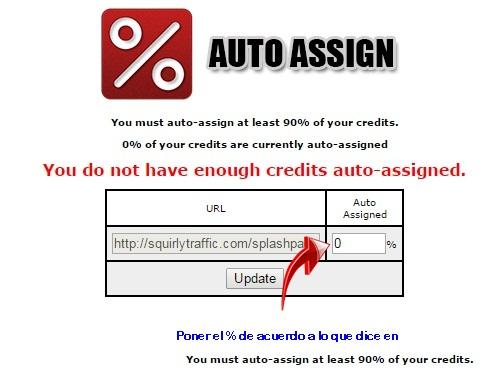 [TUTORIAL] FUNCIONAMIENTO DE LOS TE (Traffic Exchange) Auto-assign
