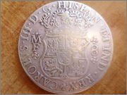 8 reales 1766. Carlos III. Méjico. Falsa Actual P1340421