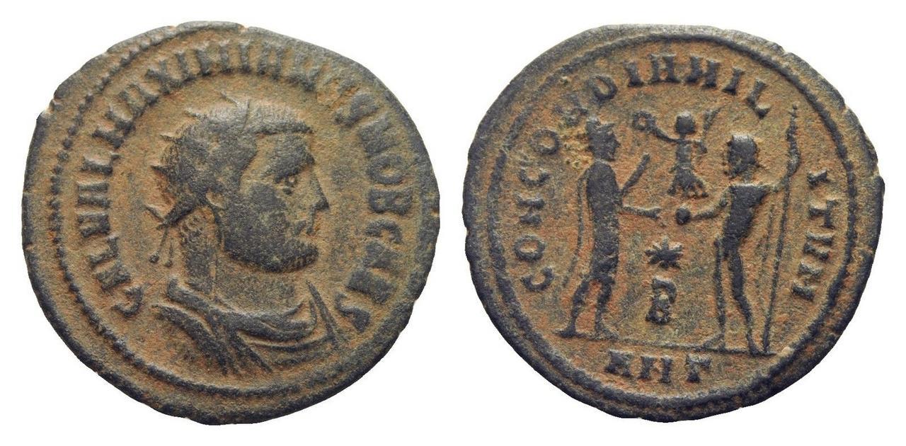 Radiado post-reforma de Galerio. CONCORDIA MILITVM. Emperador frente a Júpiter. Antioquía Galerio_antioquia_2_off