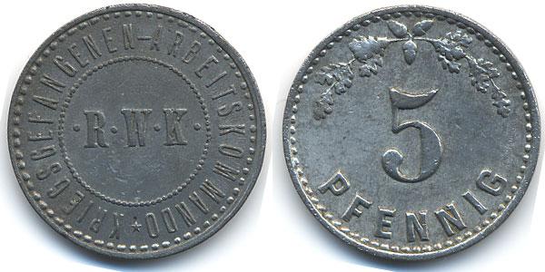 10 Pfennig. Alemania (N.D.) Campo de prisioneros I Guerra Mundial 13249_1107_dornap_fr46_1