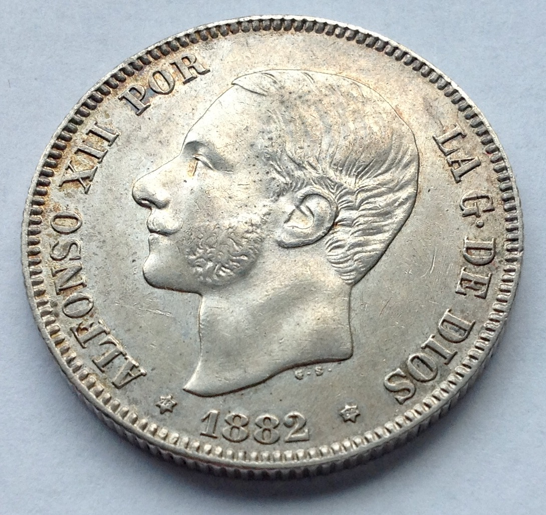 2 pesetas 1882/1 Alfonso XII Image