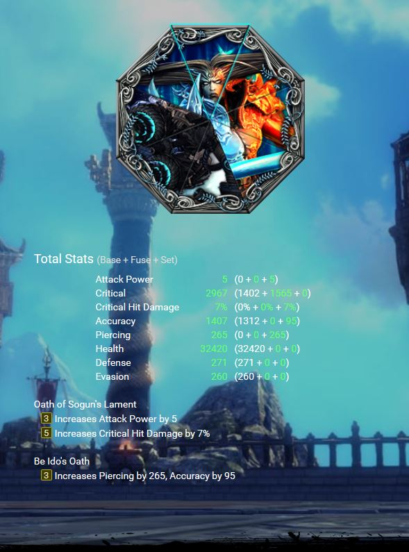 At the moment/ Future BiS SoulShields combos Asura_be_ido