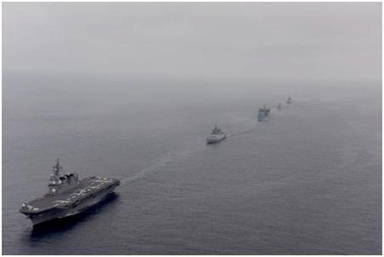 Ejercicio naval Malabar 2015,2017 y siguientes - Participacion  de India - Japon - Estados Unidos - Australia MALABAR_JS_HYUGA