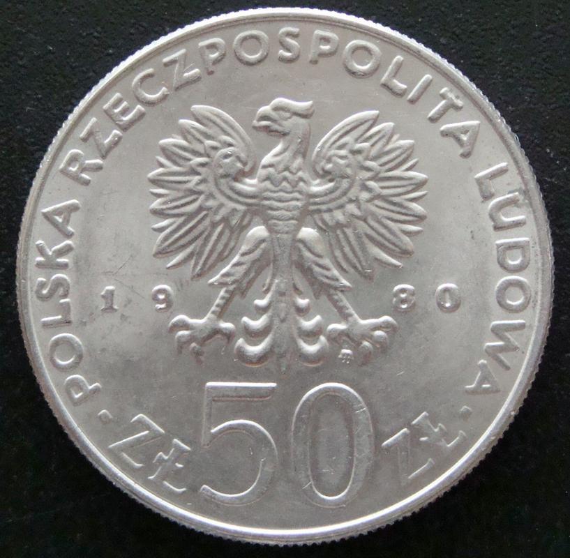 50 Zloty. Polonia (1980) Boleslaw I  POL._50_Zloty_1980_Boleslaw_I_Chroby_-_anv