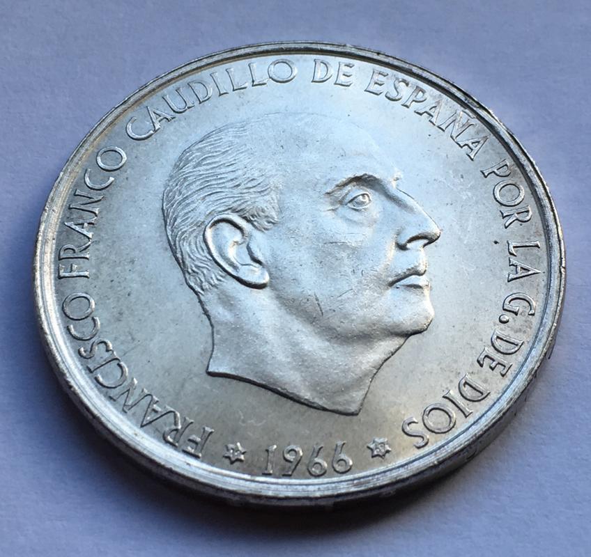 100 pesetas 1966 (*19-69). Estado Español. Palo recto CCAFA49_E-272_A-4_F4_B-8720-_AADA8_DF2957_E