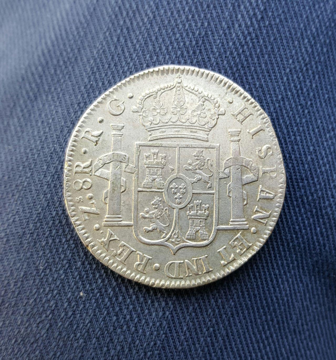 8 reales 1821. Fernando VII. Zacatecas 20160517_180743_1