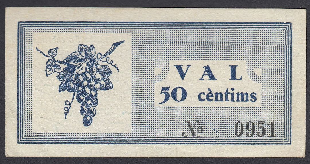 50 Cèntims Solivella, 1937 Solivella