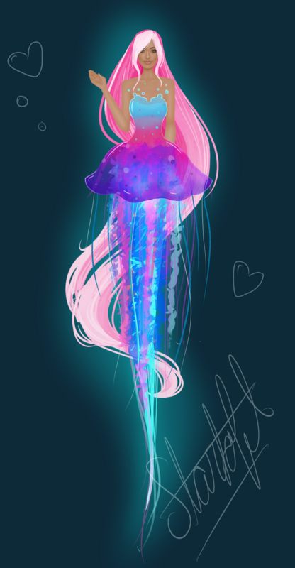 Under Water Contest Jellyfish_model_pink