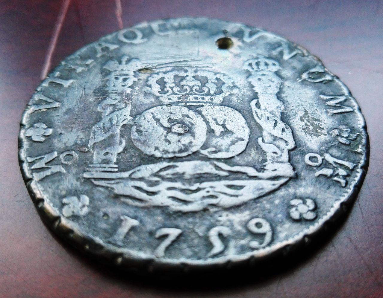 8 reales 1759 Méjico, Fernando VI (columnario) 8_reale_sm1759b