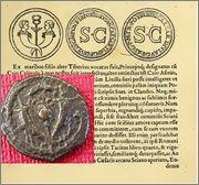 Prutah de la dinastía Asmonea/Macabea. Rom